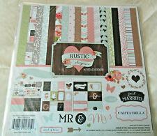 Carta Bella Rustic Elegance 12x12 Collection Kit Paper Stickers Wedding
