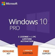INSTANT WINDOWS 10 PROFESSIONAL PRO 32 | 64 BIT GENUINE ACTIVATION KEY LICENSE