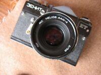 """NEW! USSR """"ZENIT-ET"""" camera + MC HELIOS-44M-4 lens, f2/58 , + zenith strap"""