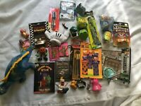 Toy Junk Drawer Lot of 30 Boy Stocking stuffer Holiday gift Minecraft Cars Cards