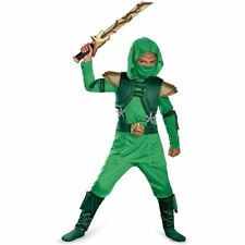 Shadow Green Master Ninja Deluxe Kids Halloween Costume, Boys Medium (7-8)