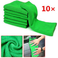 10× Green Microfiber Washcloth Auto Car Care Cleaning Towels Soft Cloths Tool