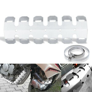 Motorcycle Exhaust Muffler Pipe Cover Heat Shield Aluminum Heel Guard Protector