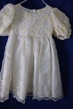 Tip Top Kids Girl's White Formal Dress-Size 2-Embroidery,Ribbon Flowers -SALE