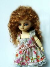 Tiny BJD with handmade mohair wig, made by Wishel, RARE