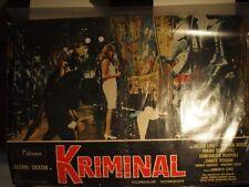 KRIMINAL splendido poster / locandina del film anni sessanta !!!