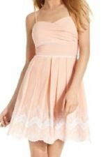 "Speechless Juniors Dress Sz 7 Peach Pink Spaghetti Strap ""May Day"" Casual Summer"