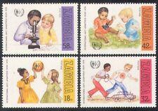 Zambie 1979 apartheid/enfants/ONU/JOUETS/Voiture/Papillon/microscope 4 V Set (b7965a)