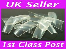 500 Clear False Fake Nail Art Tips French Acrylic Transparent