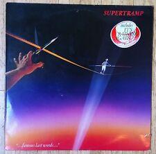SUPERTRAMP Famous Last Words LP/DUTCH
