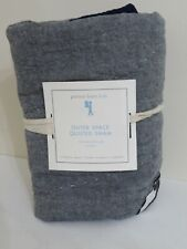 POTTERY BARN KIDS OUTER SPACE QUILTED PILLOW SHAM NEW EURO EUROPEAN