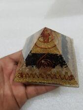 Protección EMF blacktourmaline lemuriana Cristal Cuarzo Orgón Pirámide 9cm