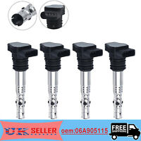 4x Ignition Coil packs Set fit AUDI A3 S3 A4 A6 TT VW Golf MK III 1.8 06A905115
