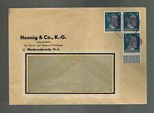 1945 Niederoderwitz Germany Obliterated Hitler HEad Cover Window Envelope