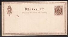 3274 DENMARK PS STATIONERY POSTAL CARD 1875 Mi. # P 9 UNUSED