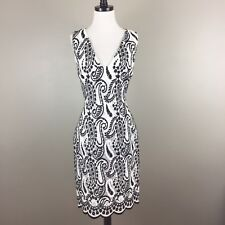 $2875 Giambattista Valli Paris Paisley Silk Organza Sheath Dress Size 44 M White