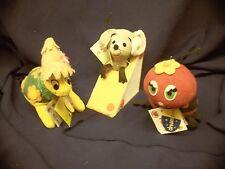 Dream Pets HONOLULU HARRY turtle, LADY JANE ladybug, ROQUEFORT mouse Dakin lot