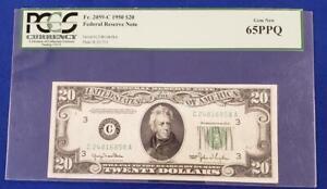 1950 US $20 Federal Reserve Note PCGS 65PPQ FR.# 2059-C Philadelphia L10341
