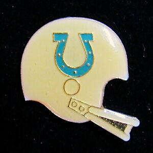 BALTIMORE COLTS ~ VINTAGE 1980's NFL HELMET Enamel LAPEL PIN ~ NEW / OLD STOCK