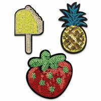 Patches zum Aufbügeln Eis Ananas Erdbeere Applikation Dekoration Aufnäher