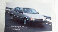1987 Saab 9000 postcard