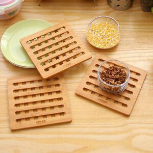 Natural Bamboo Trivet Mat Pads for Instant Hot Pot Bowl Home Decoration