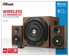 TRUST 21243 VIGOR WOOD EFFECT 100W PMPO 50W RMS 2.1 SPEAKER SET WITH BLUETOOTH