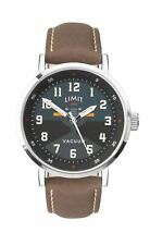 Limit Pilot Style Gents Watch Black & Teal Dial with Brown Strap 5971