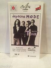 Depeche Mode Concert ticket Stub 7-7-1993 France - Rare Picture Ticket