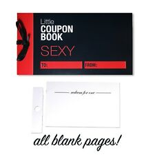 Blank Sexy Love Coupons for Him Her Naughty Valentine Fun Couples Gift