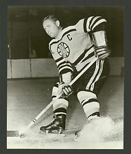 Fern Ferny Flaman Boston Bruins 1960s Vintage Hockey Press Photo