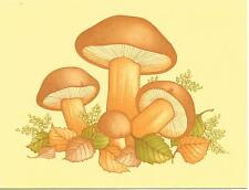 Vintage Yellow Mushroom Note Cards - By Eaton - Set of 8