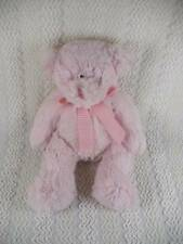 "Circo Pink Plush Teddy Bear w Pink/White Gingham Bow Super Soft 12"" Baby Lovey"