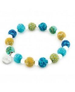 NEW JILZARA Handmade Clay Beads PERUVIAN BLUE Petite 8mm Bracelet