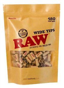 RAW PREROLLED Wide Filtertips, ø 8mm, 180 Tips Beutel  vorgedreht vorgerollt