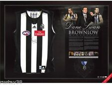 DANE SWAN COLLINGWOOD HAND SIGNED AFL BROWNLOW MEDAL LIMITED FRAMED JUMPER