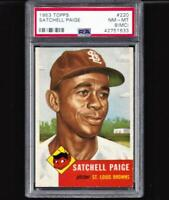 1953 TOPPS 220 SATCHELL PAIGE PSA 8 just 11 higher +1948 Leaf Jackie Robinson RP