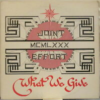 JOINT EFFORT What We Give LP Soul/Rock Private Press on Morning Star Records