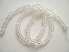 Rock crystal rondelle beads 4X6mm
