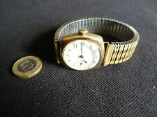 Unusual Waltham Art Deco mens vintage watch 15 Jewels gold plated Dennison case