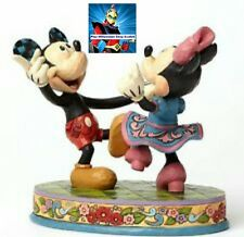 4049641 mickey & minnie dancing jim shore statue disney usa limited topolino
