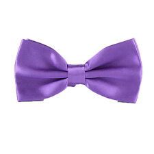 Men's & Kids Pre Tied Satin Wedding Party Bow Tie's 5 Styles Variety Of Colours