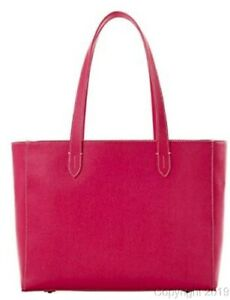 Dooney & Bourke Saffiano Shannon Hot Pink Leather Tote Brand New!
