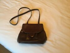 Russell And Bromley Brown Leather And Suede Handbag