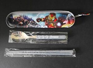 NEW MARVEL - AVENHERS CUTLERY SET WITH BAG - NOT SOLD IN US