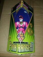 Vintage 1995 Mighty Morphin Power Rangers Talking Pink Ranger Action Figure New