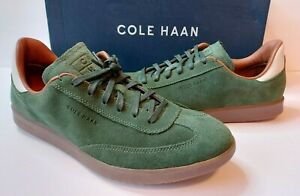 Cole Haan GrandPro Turf Suede Leather Sneakers Mens 11 M Dark Olive Green $149