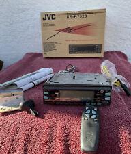 Vintage JVC KS-RT520 Cassette Car Receiver w/ Face Plate, Box, Wiring, Remote