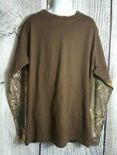 Ranger Boys Long Sleeve Brown and Camo Tee Shirt Size Large 10/12
