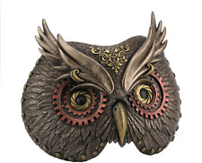 Steampunk Owl Mask Wall Plaque Statue Sculpture Figure